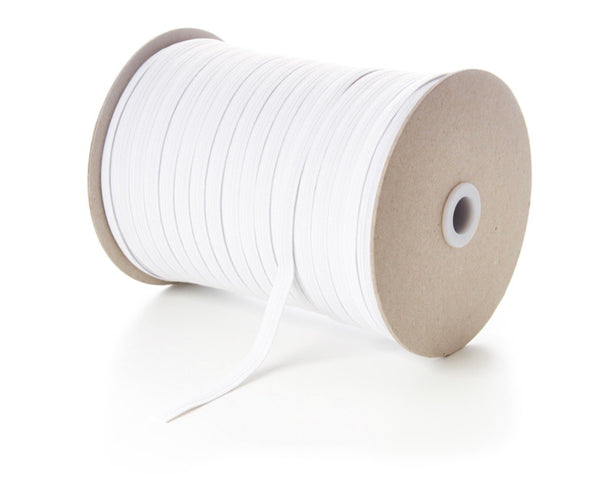 5 metres of 5mm white elastic