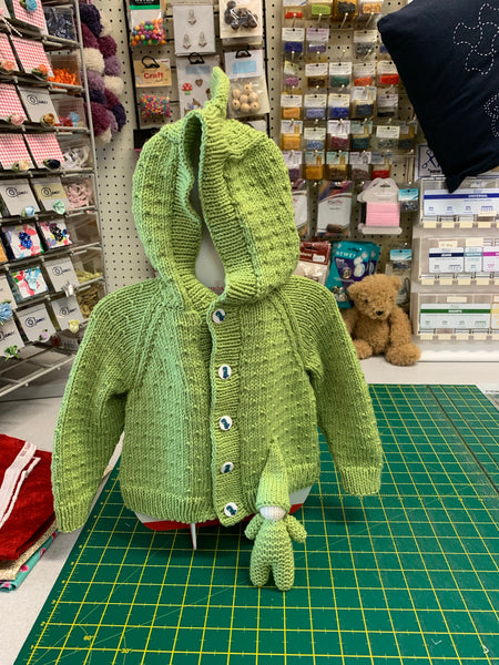 Stylecraft Bambino D/K Dino Hoodie Pattern birth to 7yrs 9758