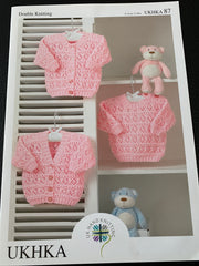 Baby Double Knit Lace Pattern Cardigans and Sweater UKHKA87