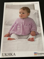 Baby Double Knitting Cardigan and Blanket Knitting Pattern UKHKA123