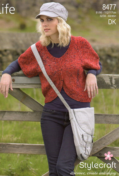 Stylecraft Life double knit pattern 8477