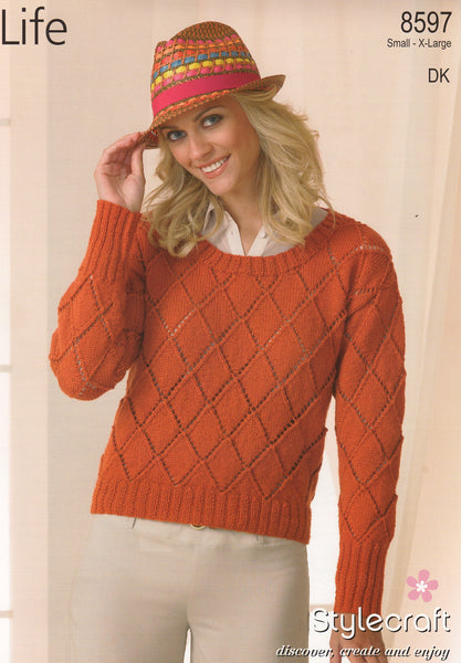 Stylecraft Life double knit pattern 8597