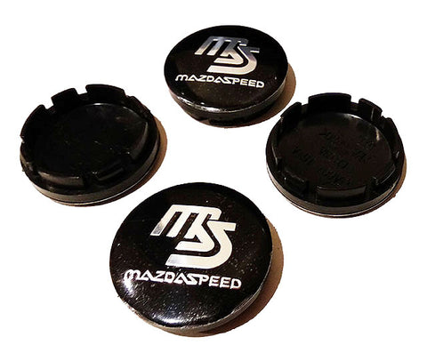 Mazdaspeed Logo Wheel Centre Caps - Set of 4 (56.5mm)