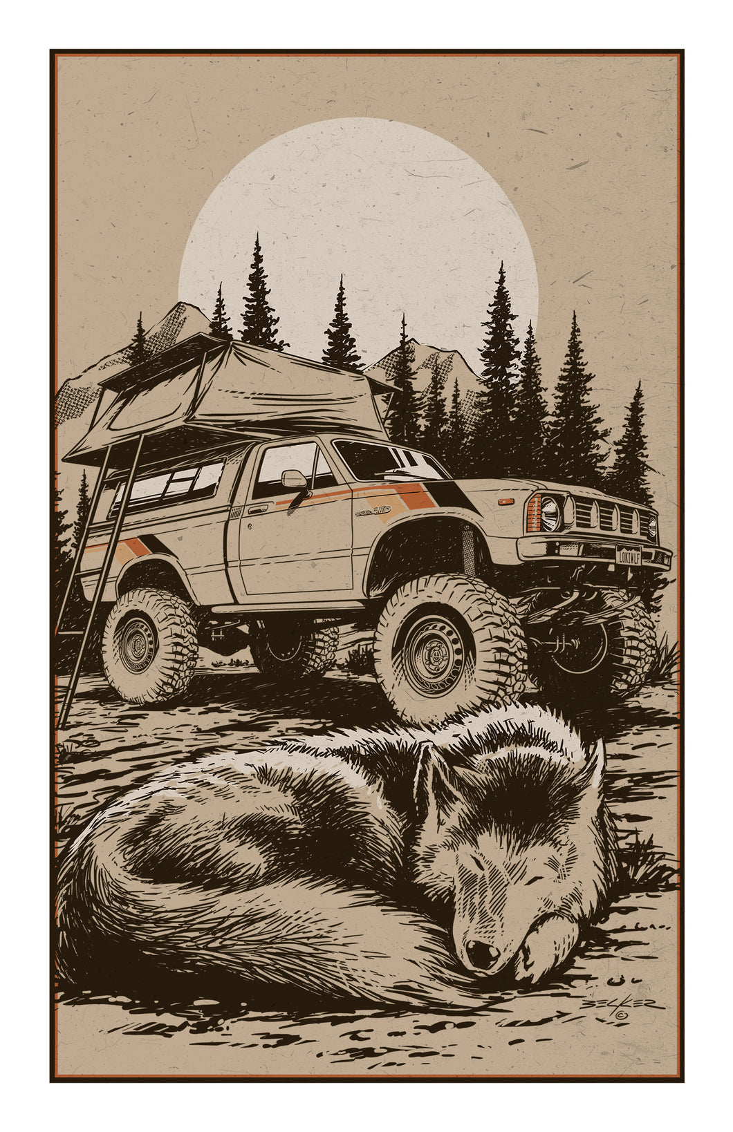 Camping in the 80s Print