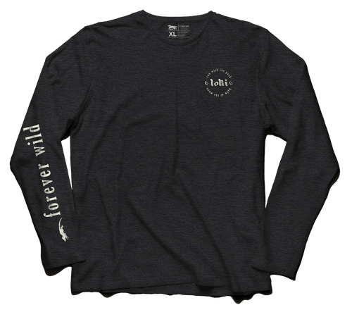 Forever Wild Long Sleeve - Charcoal Gray