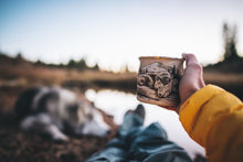 Load image into Gallery viewer, Camping Enamel Mug