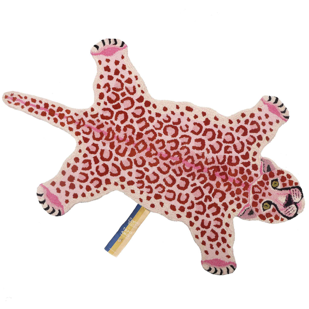 PINKY LEOPARD RUG - LARGE