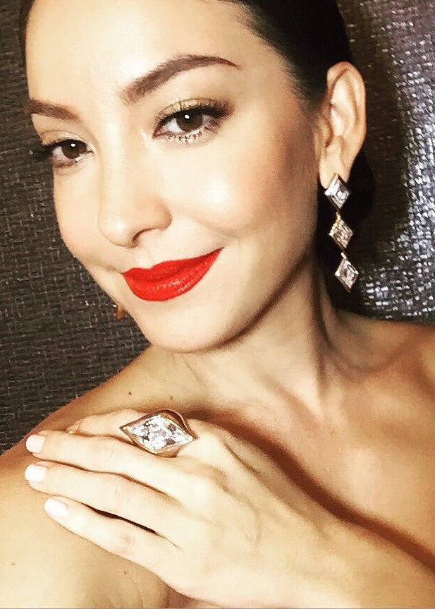 Ase Wang in M Reflection Ring - Pinkgold