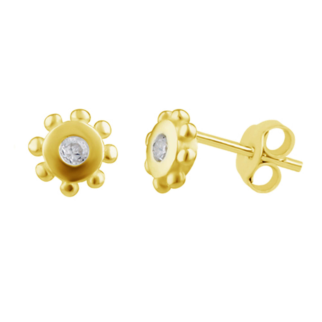 Sun Stud Earrings - Gold