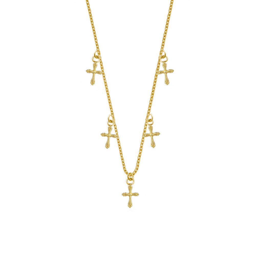 Cross Necklace - Gold