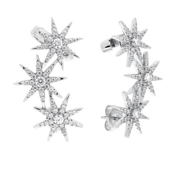 PADPUDD RATHFAR IN STARBURST CUFF Earrings - Silver
