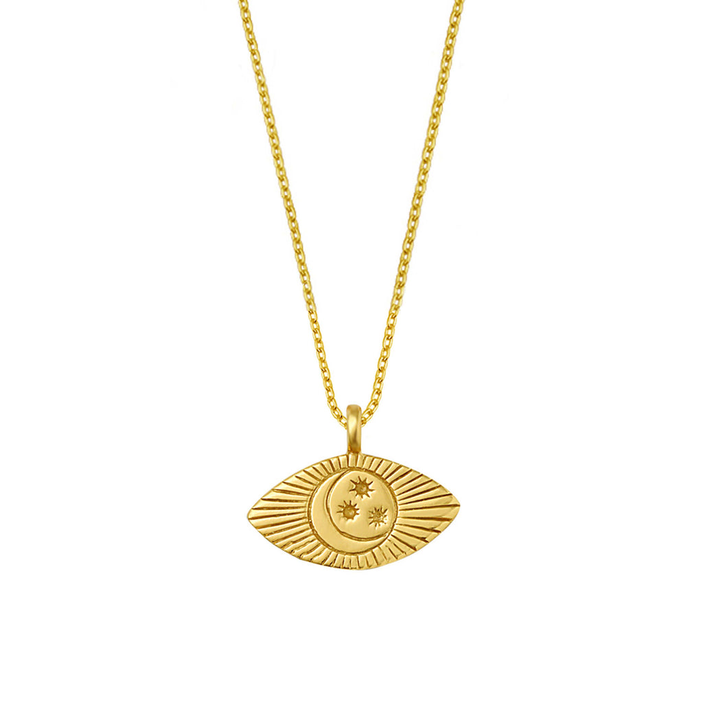 Luna Eye Necklace - Gold