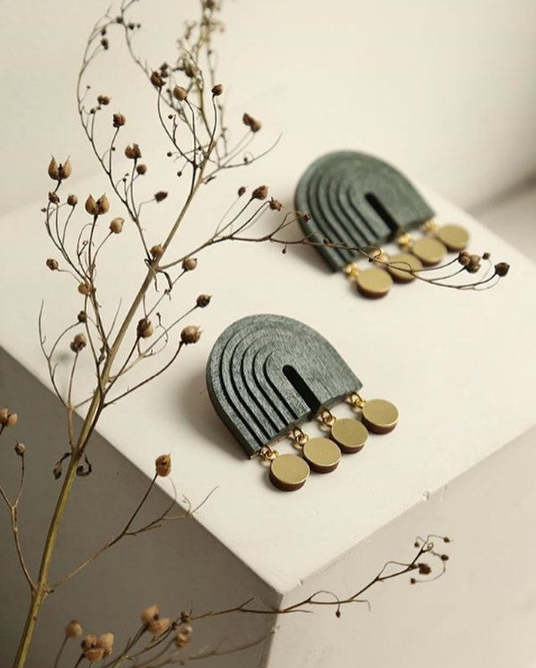 Mirage Earrings - Spruce Green