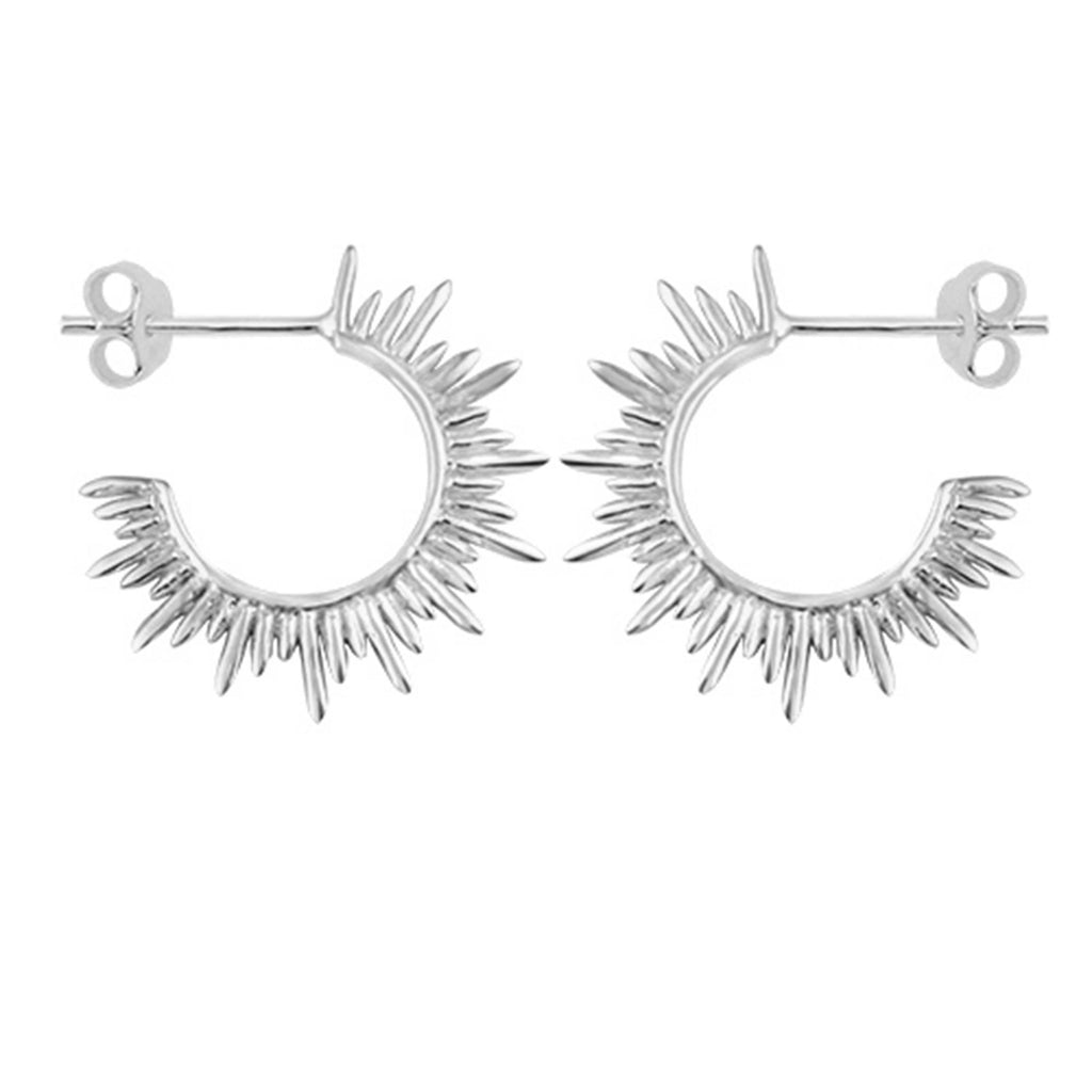 Solis Hoop Earrings - Silver