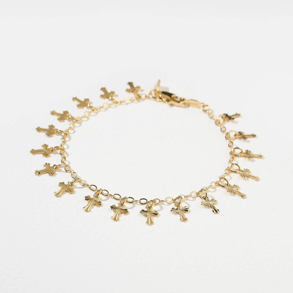 THE CROSS BRACELET – GOLD