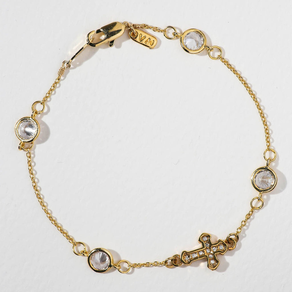 The Unchained Cross Bracelet - GOLD