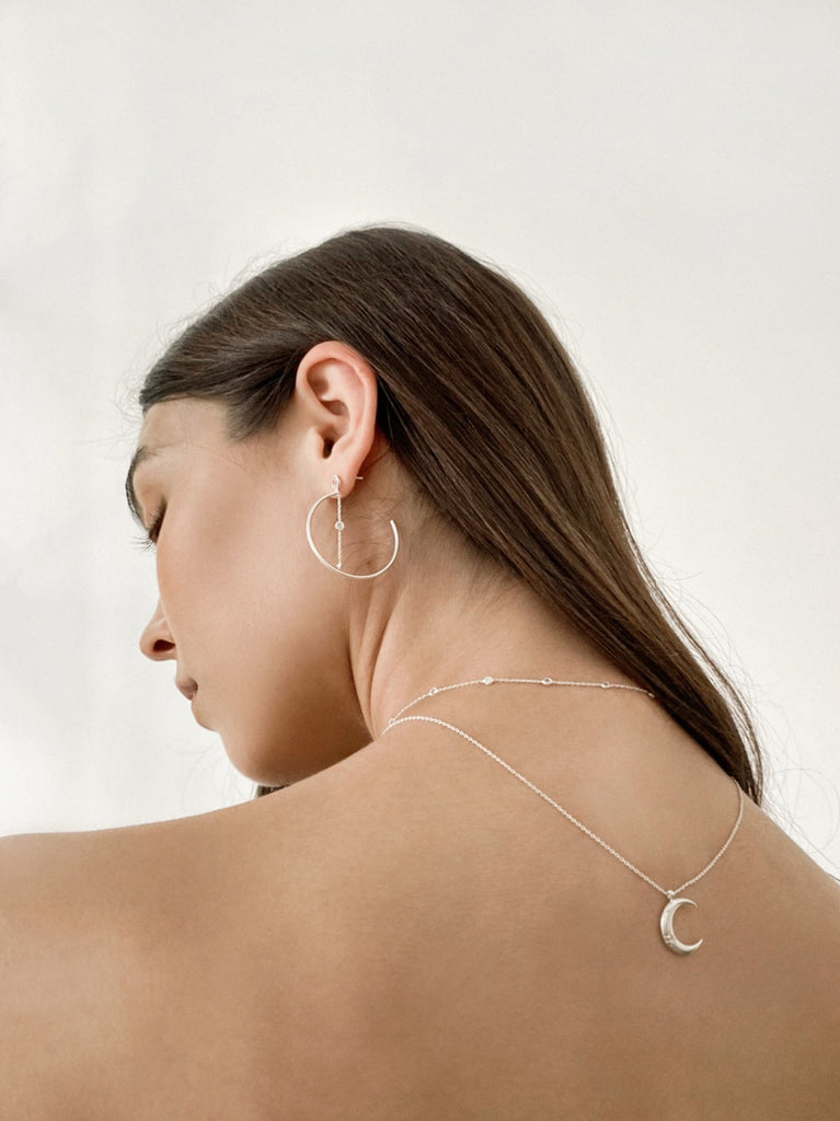 Diona Hoop Earrings - Silver