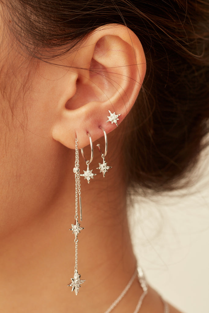 CELESTIAL MINI HOOP EARRINGS – GOLD