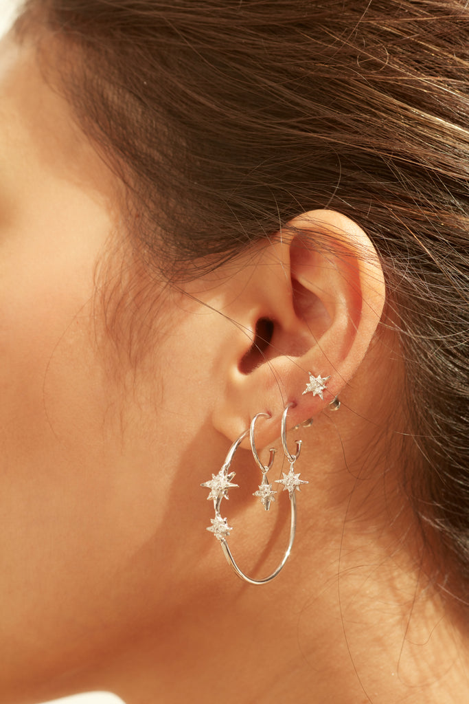 CELESTIAL HOOP EARRINGS – GOLD