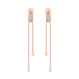 Zip Long Earrings - Pinkgold