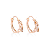 Zip Hoop Earrings - Pinkgold