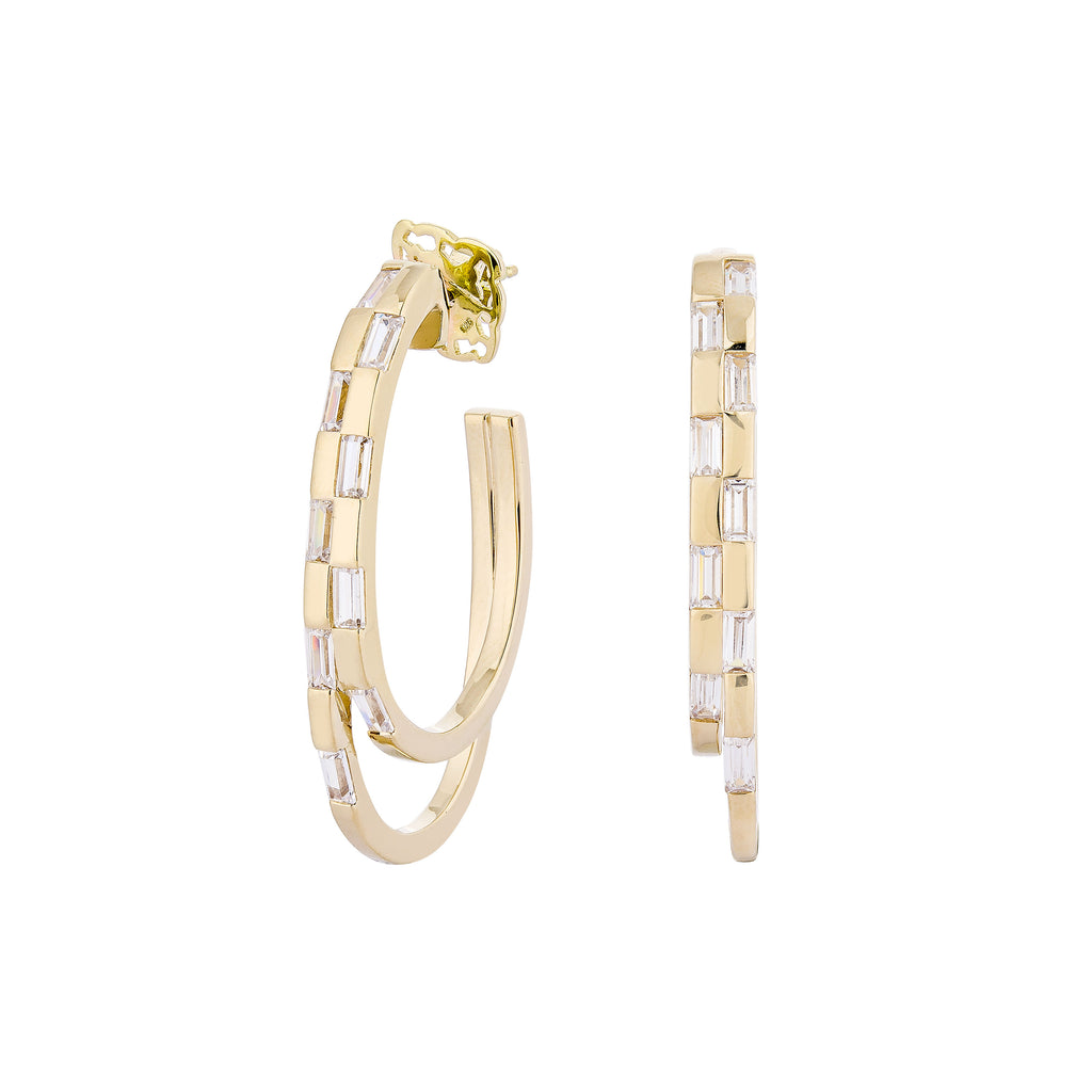 WAREE DOUBLE HOOP EARRINGS – GOLD