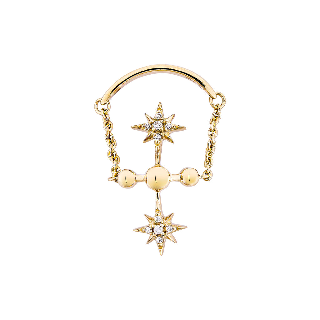 CELESTIAL CHAIN RING – GOLD