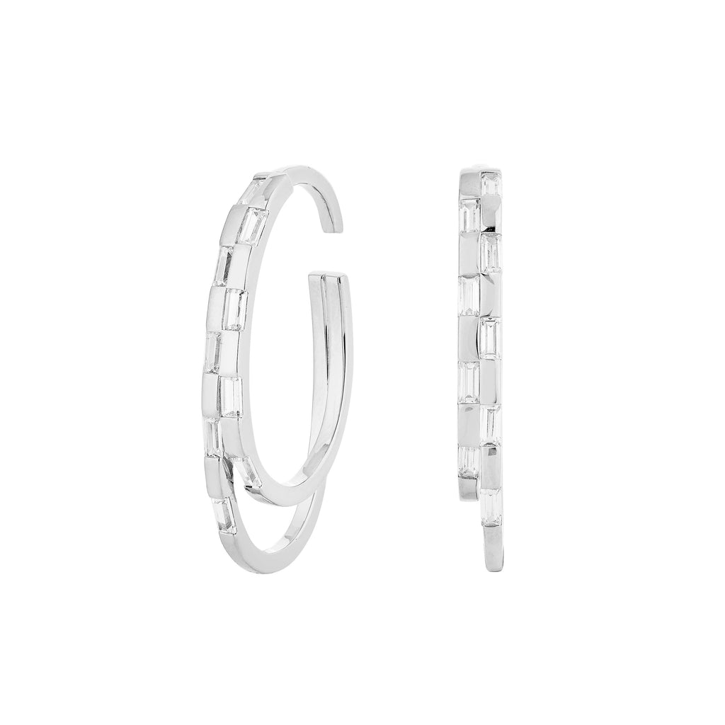 WAREE DOUBLE HOOP EAR CUFF – SILVER