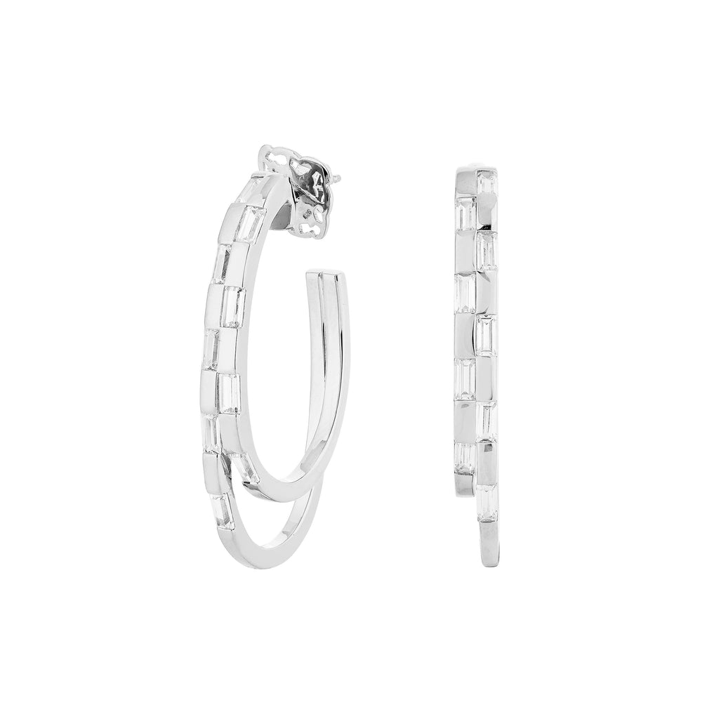 WAREE DOUBLE HOOP EARRINGS – SILVER