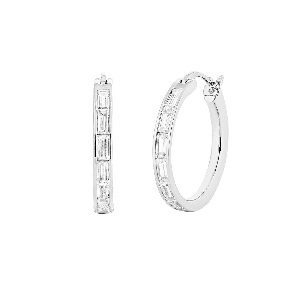 WAREE HOOP EARRINGS – SILVER