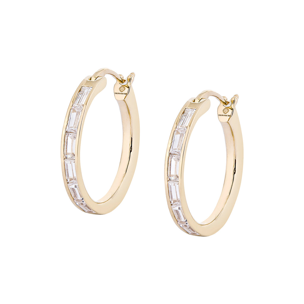 Toey Jarinporn IN Waree Hoop Earrings - Gold