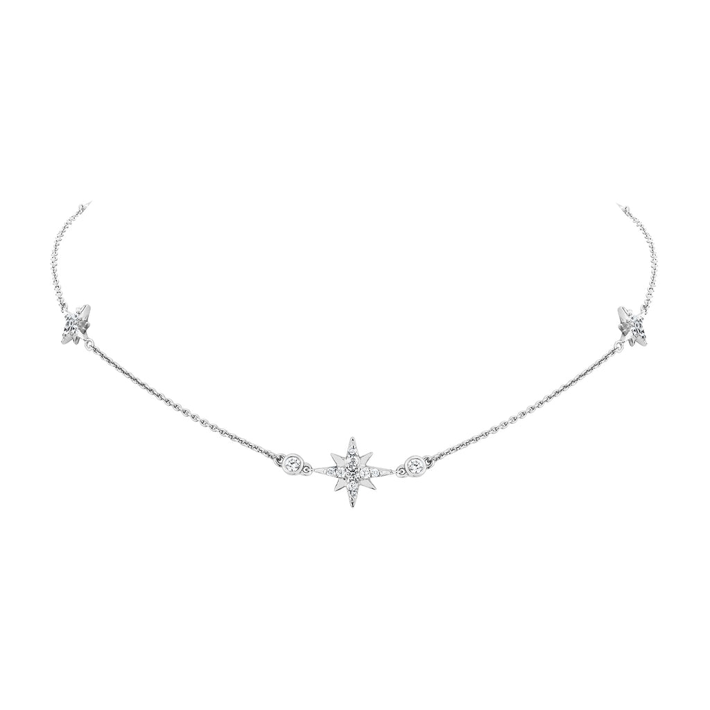 Celestial Chain Necklace - Silver