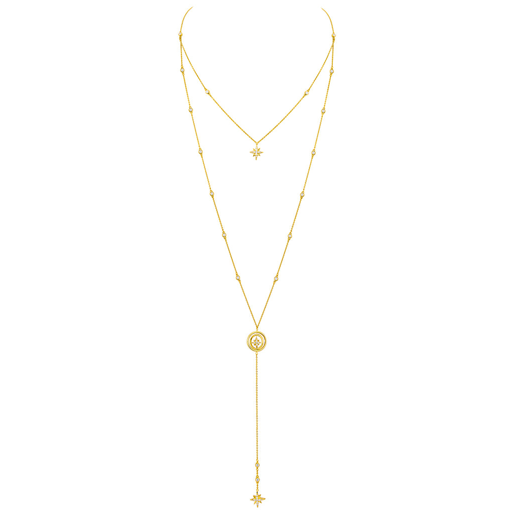 CELESTIAL LONG LARIAT – GOLD