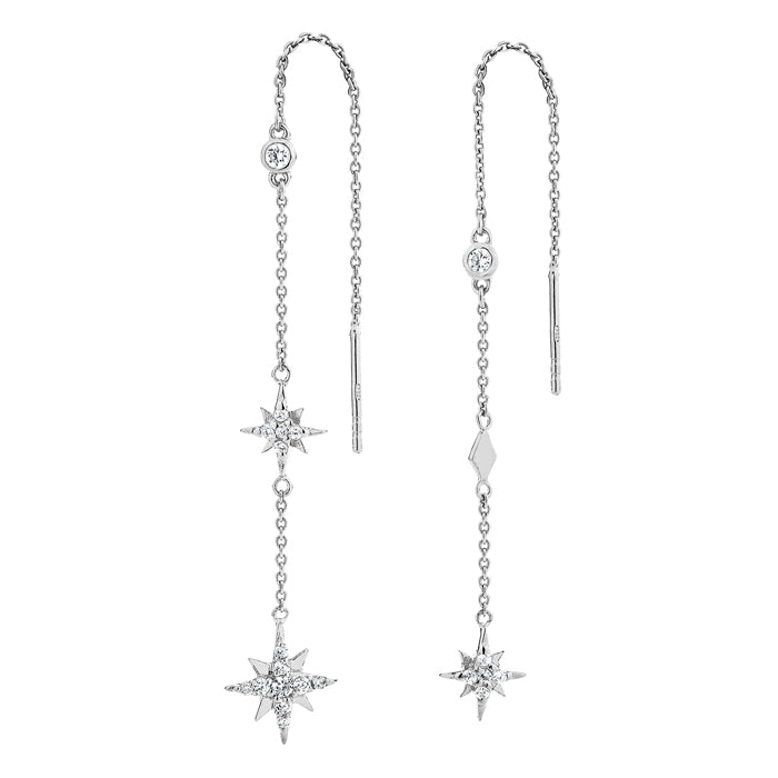 Celestial Chain Earrings - Silver