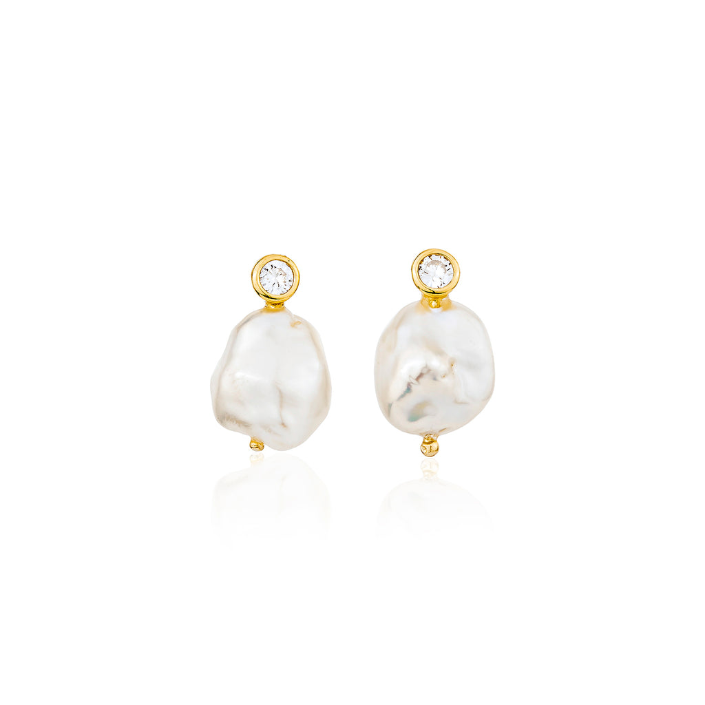 Marin Stud Earrings - Gold