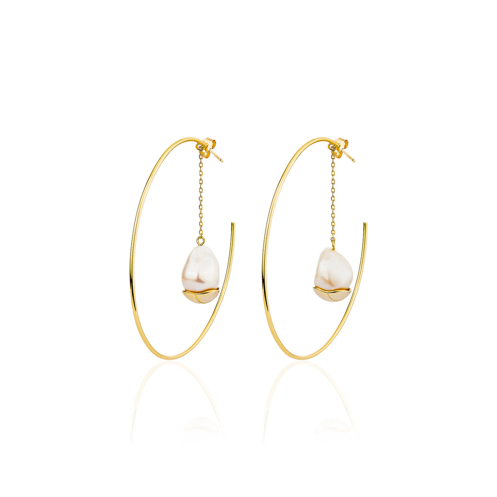 Marin Hoop Earrings - Gold
