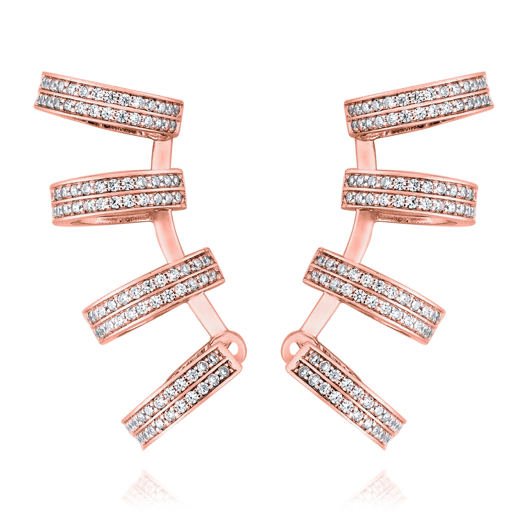 Pitta Na Patalung in 4 Hoop Earring - Pinkgold