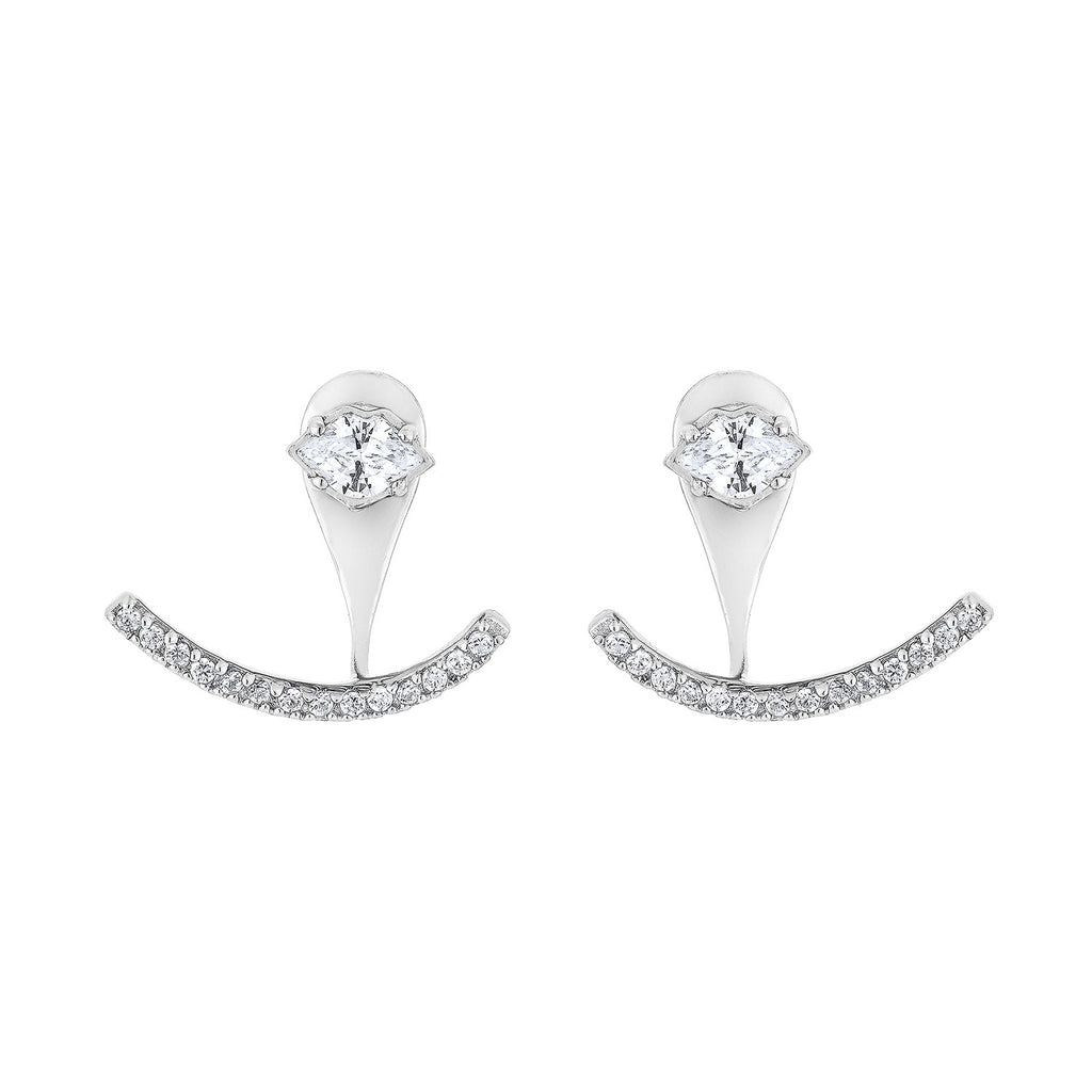 Smile Earrings - Silver