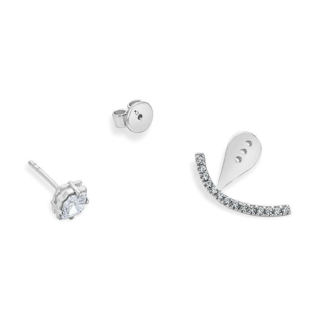 Punpun Sutatta IN Smaile Earrings - Silver
