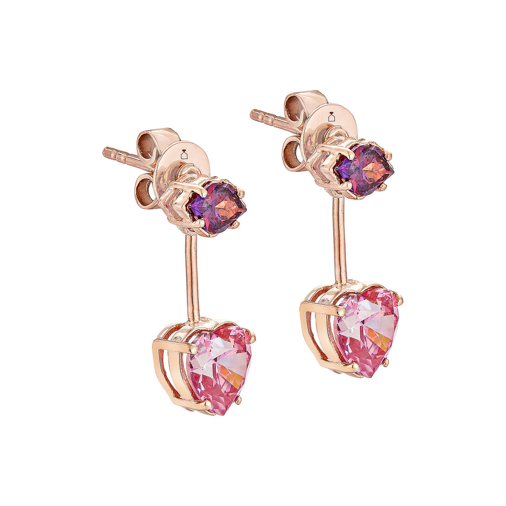 Kiss Me Earrings - Pinkgold