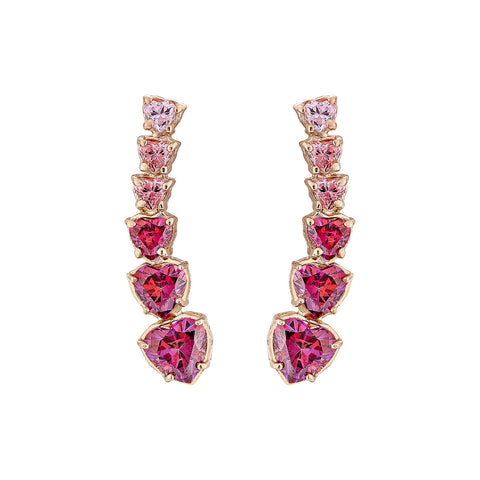 Heart Earrings - Pinkgold