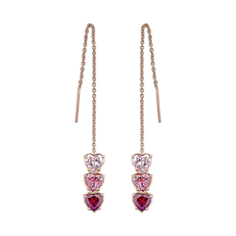Triple Love Earrings - Pinkgold