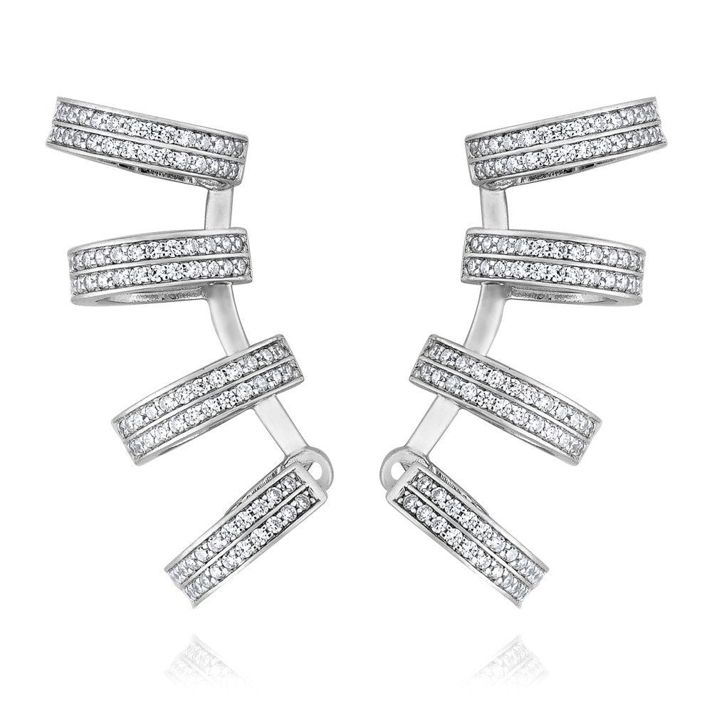 K Pink - Exquisite 4-hoop earrings
