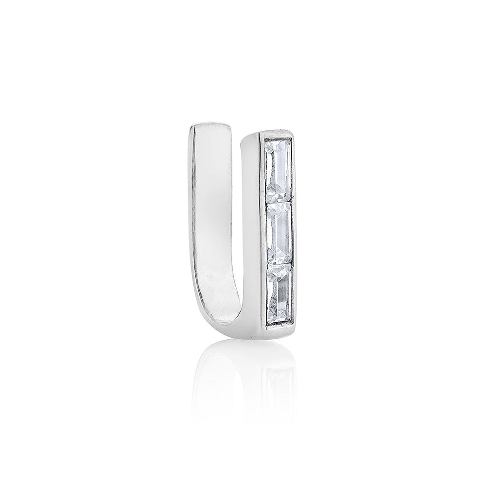 Rectangle ear cuff - Silver