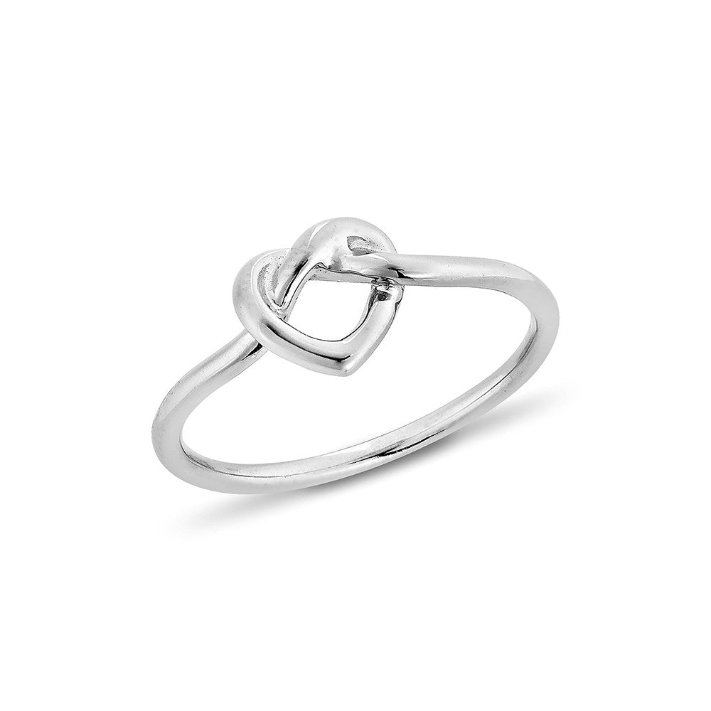Infinity Heart Ring - Silver