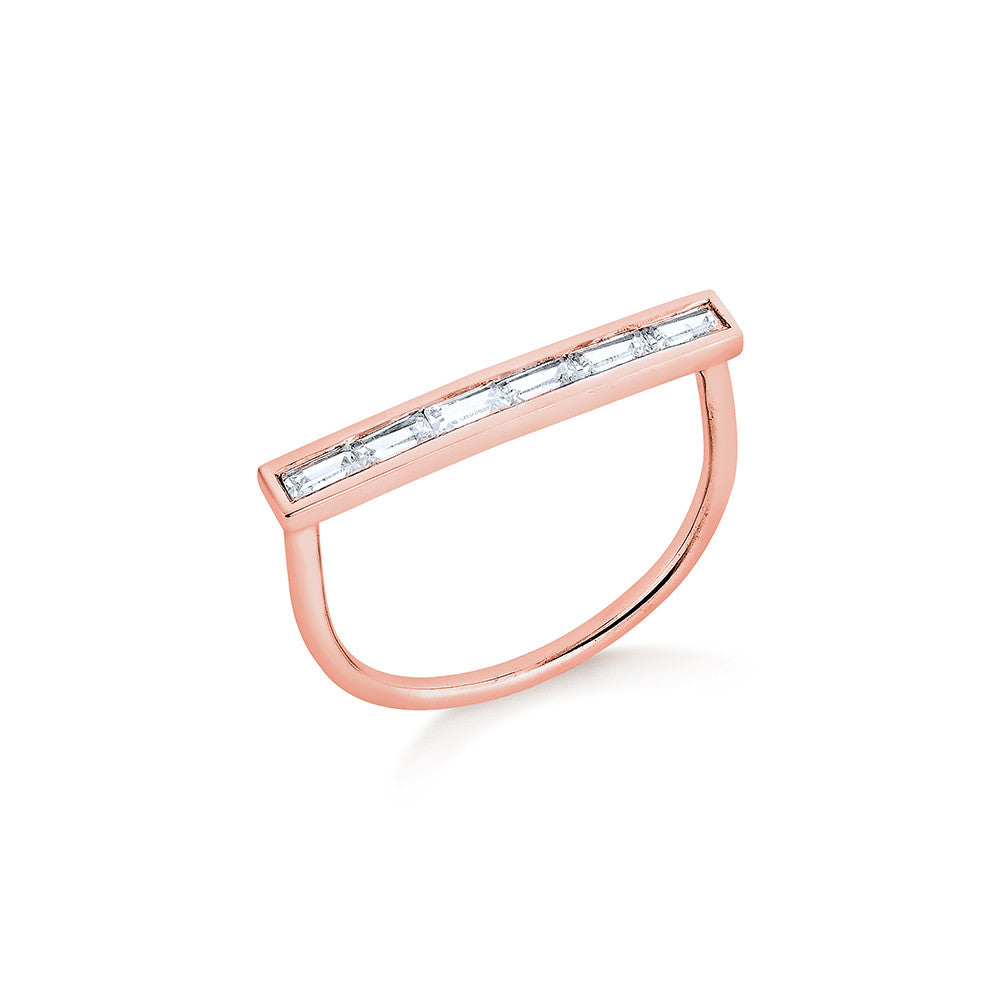 Diamond Lining Ring - Pinkgold