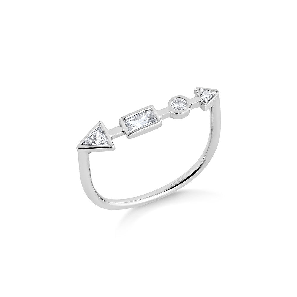 Ariel Diamond Ring - Silver
