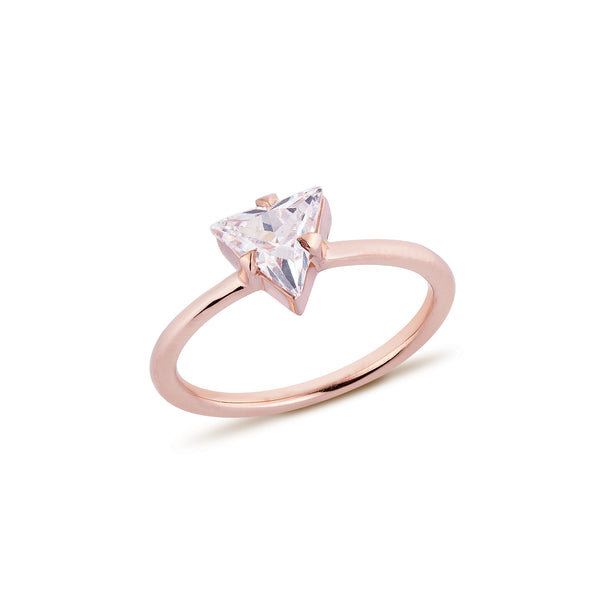 Trilliant Diamond Ring - Pinkgold