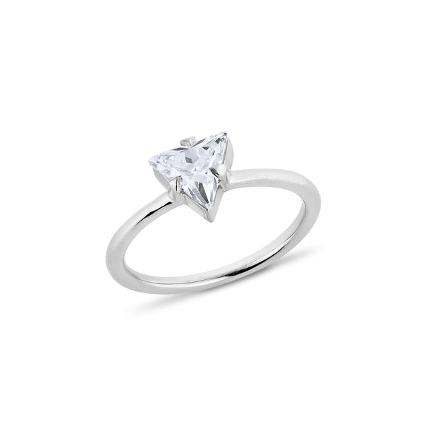 Trilliant Diamond Ring - Silver