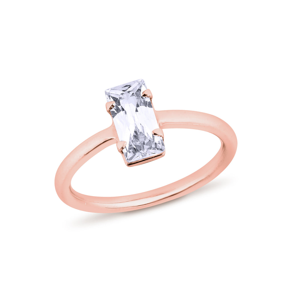 Baguettes Diamond Ring - Pinkgold